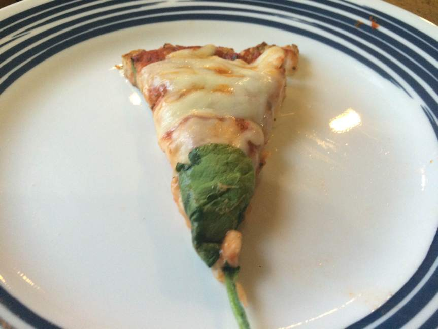 """Now bake it for 6 - 8 minutes. 6 minutes of 1/3"""" thick crust with lotsa cheese or..."""